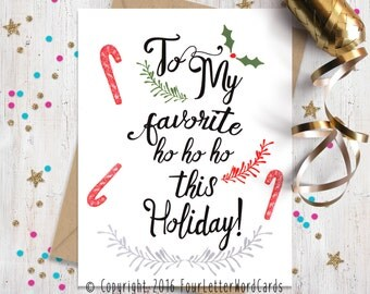 Holiday Card for Her, Funny Christmas Card, Holiday Cards, Christmas Cards, Card for Bestfriend. Funny Holiday Cards, Holiday Greetings