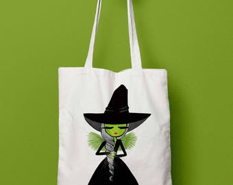 Tote Bag, Wicked tote bag, Wicked, print tote bag, cotton bag, gifts for women, hipster tote bag,  tote bags, ethically made, wizard of oz