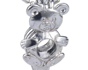 Teddy Bear Charm, Charms, Oyster, pearl, pearl cage, anniversary gift, birthday, wedding gift, birthstone, pearl oyster, party favors