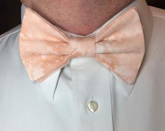Light Peach Bow Tie Mens Bow Tie Peach Tie Dye Bow Tie Blush Pink Bow Tie Blush Peach Bow Tie Ring Bearer Uganda