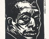 Not Your Negro (James Baldwin) Linocut Print
