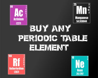 Custom Periodic Table Chemical Art Print, Periodic Table of the Elements Poster, Science gifts,Classroom,Chemistry Poster,Nerd Gifts,Geekery
