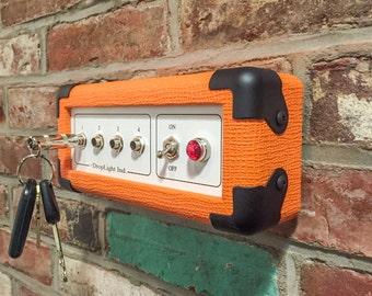 Orange Key Rack, Wall-mounted key holder, Guitar amp key holder, Key Board Mini - Orange