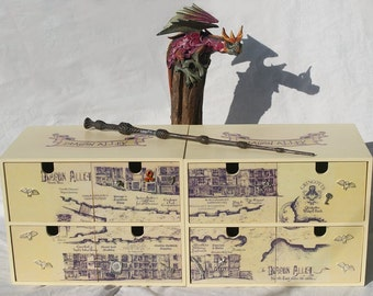 Pair of Harry Potter Diagon Alley Mini Chests Of Drawers
