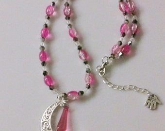 Pink Moon pendant - chain