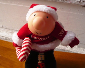 Vintage Christmas Ziggy Santa Plush Doll
