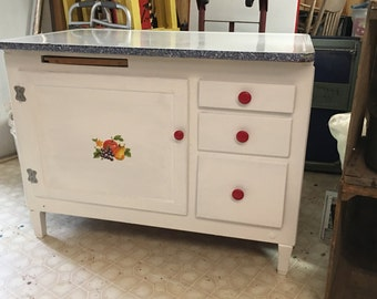 1930s Hoosier Kitchen Cabinet Bottom