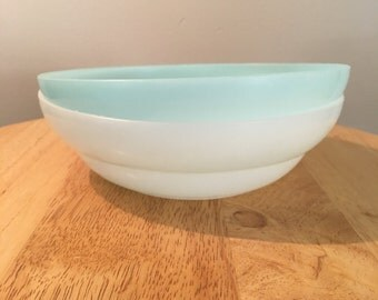 Pink and Blue Pastel Tupperware Cereal Bowls (set of 2)