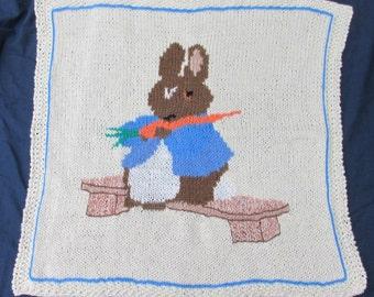 Knitting Pattern For Peter Rabbit Blanket : Peter rabbit blanket Etsy