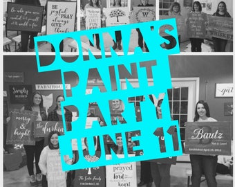 Donna's Paint Party June 11th