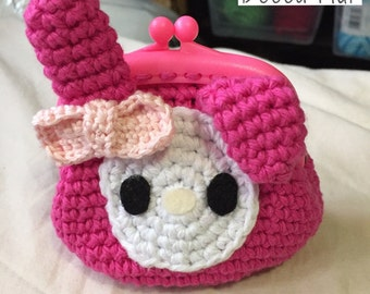 Crochet My Melody Coin Purse