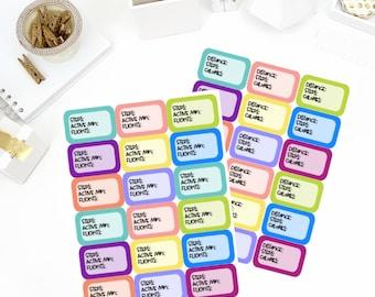 Steps Half Box Planner Stickers! Perfect for your Erin Condren Life Planner, calendar, Paper Plum, Filofax!