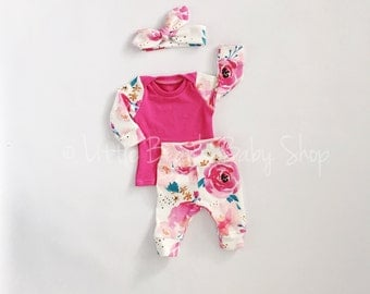 baby girl coming home outfit, take home outfit, girl take home outfit, organic clothes, newborn girl outfit, preemie girl outfit, baby girl