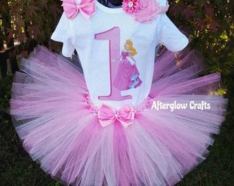Aurora Tutu, Aurora Birthday Tutu, Aurora Birthday Outfit, Aurora Tutu Set, Sleeping Beauty Tutu, Sleeping Beauty Birthday Tutu, Aurora Set