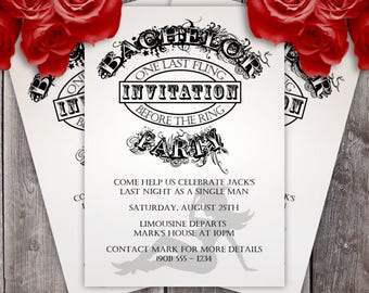 Bachelor Party Invitation (Design #1)