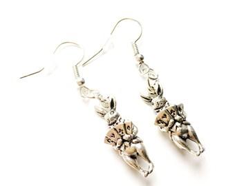 Wonderland rabbit earrings