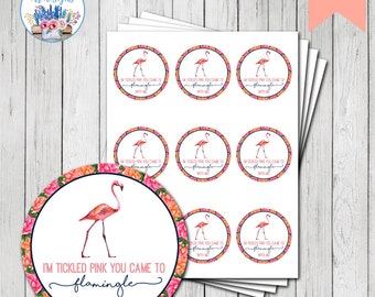 Flamingo Party Favor Tag, Let's Flamingle, Flamingo Birthday Party