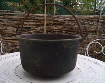 Copper Cauldron Copper. Cookware copper pan for marmalade  vintage cauldron,Farmhouse Antiques.Copper apple butter kettle