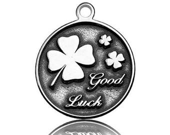 Charm Clover Good Luck Silver 925