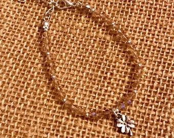 Beaded Bracelet - Flower Charm