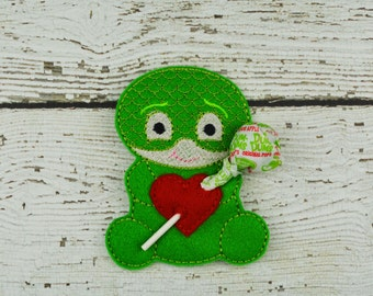 Gecko Hero Sucker Holder - Small Gift - Class Party Gift - Valentine's Day - Lollipop Holder - Party Favor - Thank You Gift - Party Supplies