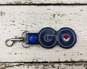 GO Keychain - Ready to Ship - Bag Tag - Zipper Pull - Bag Accessory - Small Gift