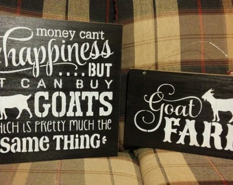 Special goat lover's gift pack!  Stenciled wood signs