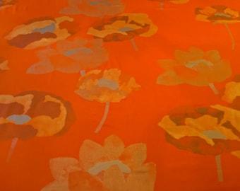 Marimekko HURMIO 100% Cotton Sateen Fabric Fujiwo Ishimoto Metallic Floral 3.25y Free Shipping!
