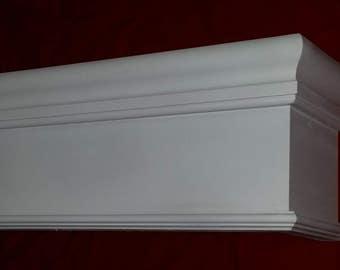 "Wood Cornice *8"" HIGH OPTION* Window Valance 100% Solid Pennsylvania Hardwood Custom Built To Any Size"