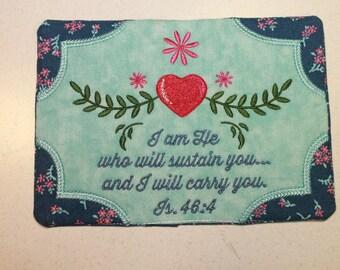 Mug Rug, Coaster, Coffee Mug Rug, Embroidered gift, handmade, Coffee Lover, Jesus, Christian, gift, birthday, thank you, hot tea