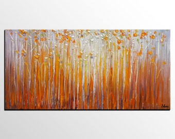 Birch Tree Painting, Canvas Art, Abstract Art, Oil Painting, Wall Art, Abstract Painting, Large Art, Canvas Painting, Original Painting