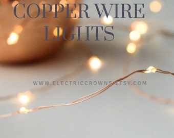 Copper Wire Fairy Lights Rustic Wedding Decor Country Decor Barn Wedding  Decor PLUG IN Wedding Lighting Part 94