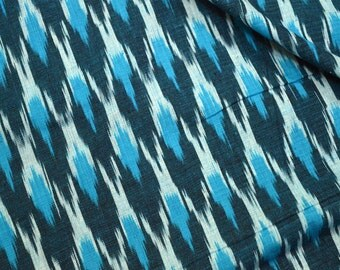Indian Ikat Fabric cotton fabric by the yard Upholstery Fabric, Ikat for cushion cover, Handwoven Ikat, Handloom Ikat Fabric, Homespun Ikat