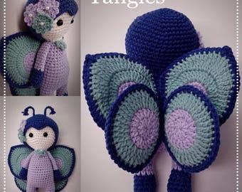 "Butterfly * Amigurumi * 12"" - 13"" Doll * Ready To Ship"