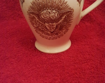 Alfred Meakin Fair Winds Pitcher.New York State seal Beautiful