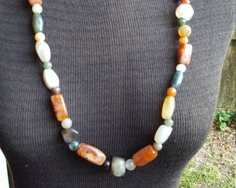Onyx, Jade Stone Necklace