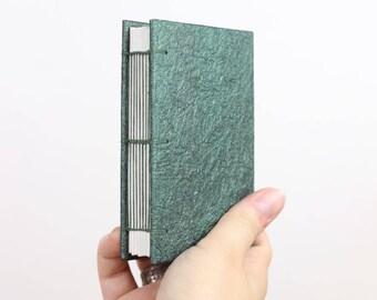 Mini Sketchbook, Handmade Journal, Leather Journal, Faux Leather, Green Sketchbook, Blank Sketchbook, Art Journal, Field Notebook, Vegan