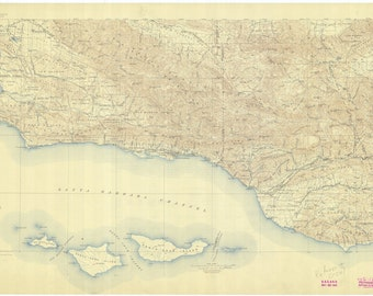 Santa Barbara Channel Map 1931