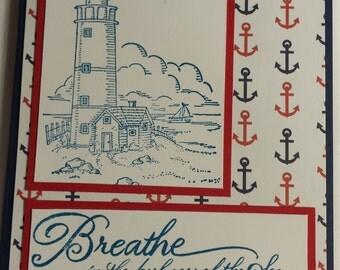 Breathe Lighthouse Card