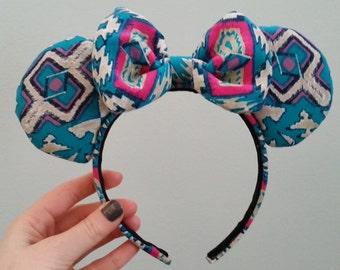 Funky Print Minnie Mouse Ears