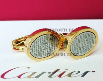 CARTIER Cufflinks in Gold Plated