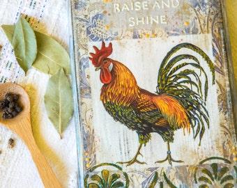 Rustic Decor, Country Decor, Farmhouse Decor, Rooster Art, Rooster Decor, Country Farmhouse Decor, Farmhouse Chic, Country Porch Decor
