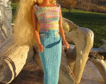 Barbie Clothes, Barbie Fashion, Hand Knit Barbie Clothes