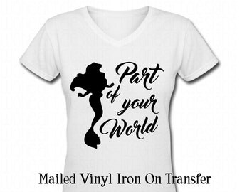 SHIPPED Vinyl Ariel The little mermaid Part of your world