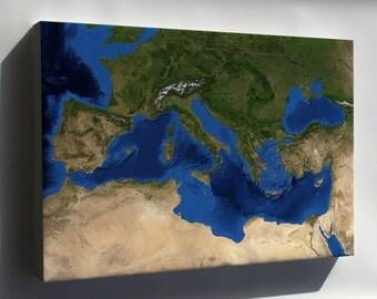 Canvas 24x36; Mediterranean Sea