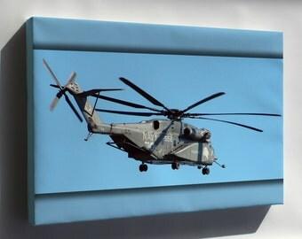 Canvas 24x36; Mh-53E Sea Dragon Helicopter