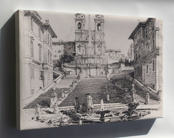 Canvas 24x36; Harry Fenn Keats' Home In Rome
