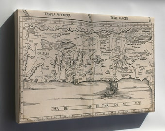 Canvas 16x24; Map Of Israel 1513