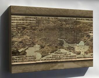 Canvas 16x24; Birdseye Map Of Baltimore Maryland 1869