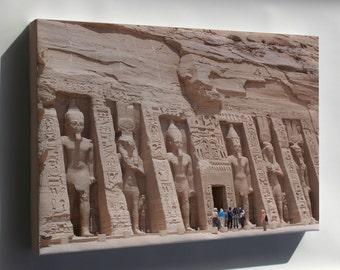Canvas 16x24; Temple Of Nefertiti Abu Simbel Temples, Temple Of Nefertiti